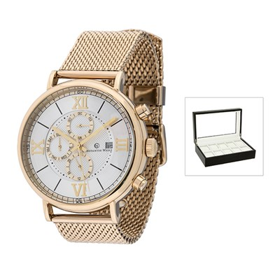 Constantin Weisz Gents Automatic Watch with Milanese Strap with FREE 10 Slot Collectors Box