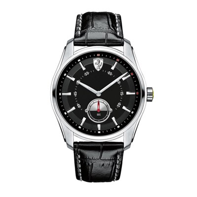 Scuderia Ferrari Gents GBT with Stainless Steel Case and Leather Strap