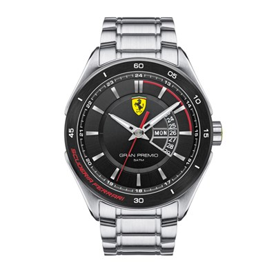 Scuderia Ferrari Gents Gran Premio Watch with Stainless Steel Strap