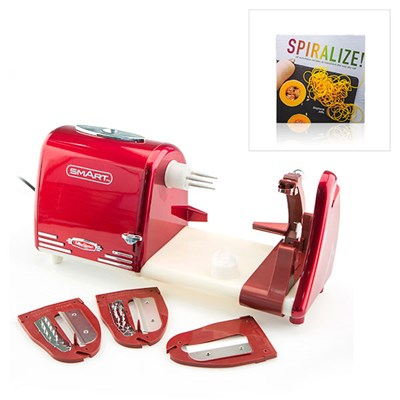All in One Electric Spiralizer Peel and Prepare and Spiralizer Recipe Book