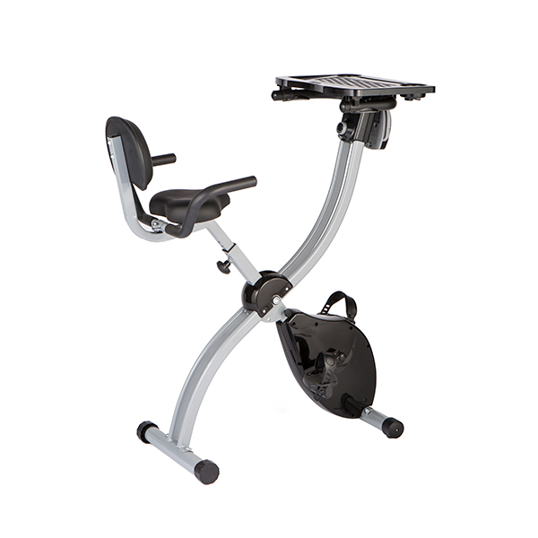 Work & Ride Exercise Bike with Work Tray & Pulse Sensors