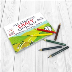 The All Counties Craft Challenge Colouring Book with Pencils