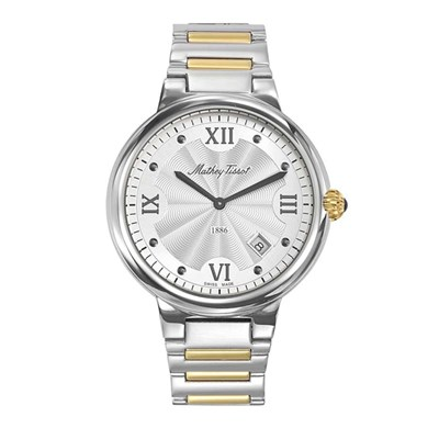 Mathey-Tissot  Gent's Le Blanc Swiss Made Watch with Stainless Steel Strap