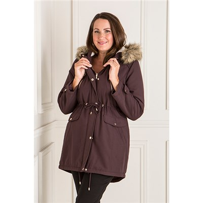 Hooded Long Microfibre Parka