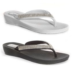 Two Pack Ella Wedge Toe Post Sandals Wit