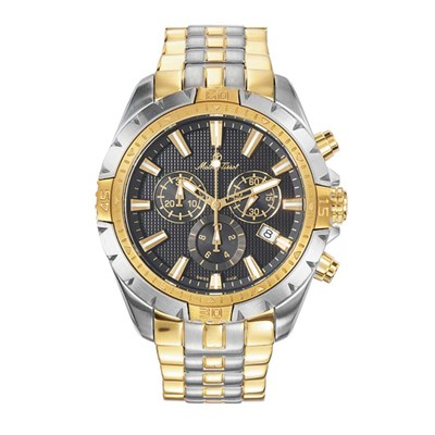 Mathey-Tissot  Gents Two Tone Bolton Swiss Made Chronograph Watch with Stainless Steel Strap