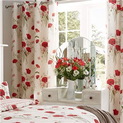 Red Poppies Curtains 66 x 72