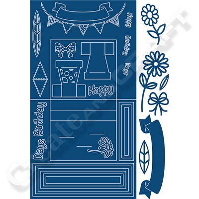 Tattered lace Stage Card Die