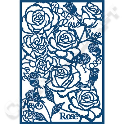 Tattered Lace Rose Panel Die