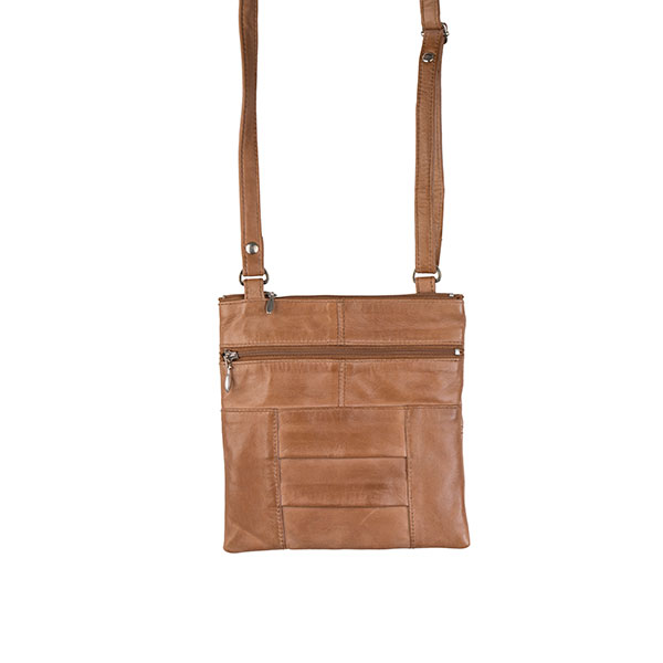 Woodland Leather Ladies Crossbody Bag Tan