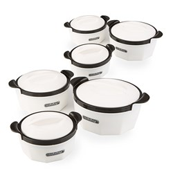 Cookshop Set of 6 Insulated Dishes - Fiona Range