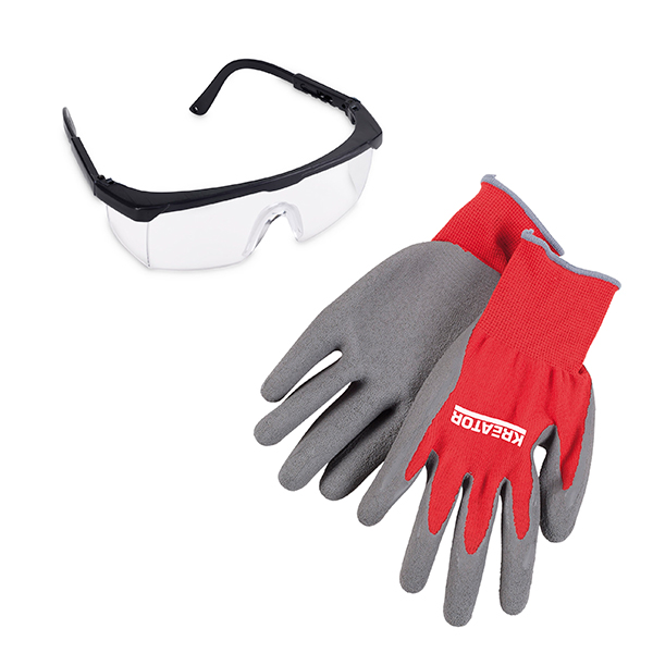 Kreator Safety Glasses and Precision Grip It Gloves No Colour