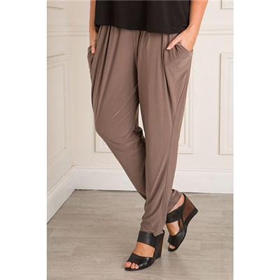 Nicole Fluid Jersey Drape Pocket Trouser