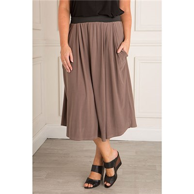 Nicole Fluid Jersey Drape Pocket Skirt