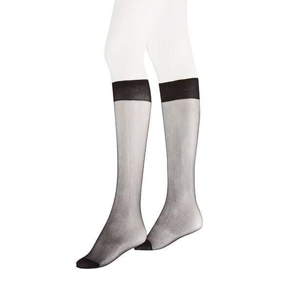 3 Pack 15 Denier Knee Highs Black