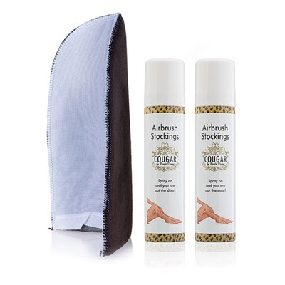 Airbrush Stocking Bundle -  75ml Airbrush Stockings (Twin Pack) and Application Mitt
