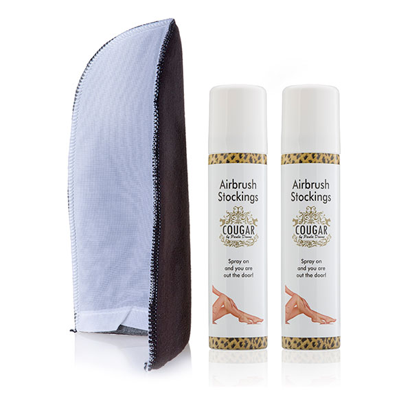 Airbrush Stocking Bundle -  75ml Airbrush Stockings (Twin Pack) and Application Mitt No Colour
