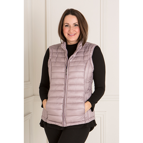 Lightweight Padded Gilet Lilac