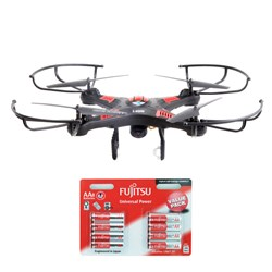 X-CAM Remote Controlled Flying Drone with Camera and 8 x AA Batteries