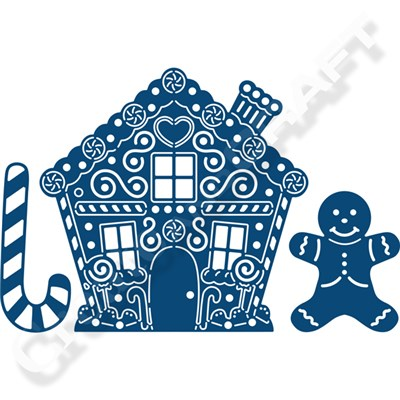 Tattered Lace Gingerbread House Die