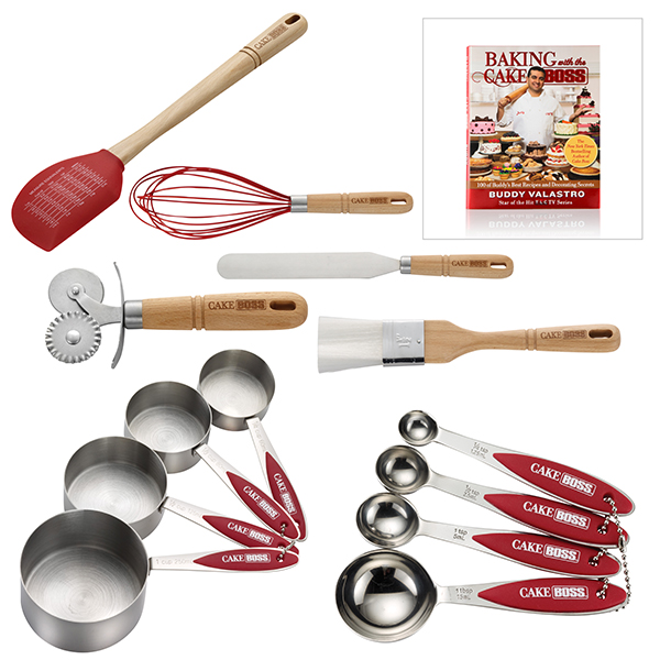 Cake Boss 7 Piece Essential Utensil Set With Free Baking With The Cake Boss Recipe Book No Colour