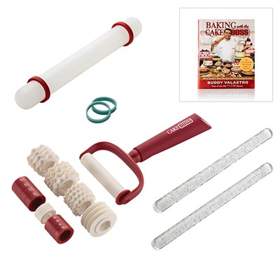 Cake Boss Fondant Impression Set With Free Baking With The Cake Boss Recipe Book