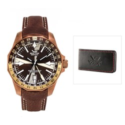 Vostok Europe Gents Radio Room Automatic Watch with FREE Money Clip