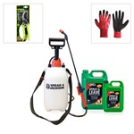 Spear and Jackson Spray and Leave 5L with 2.5L and 5L Sprayer with Kew Collection Bypass Secateurs and FREE Grip It Gloves - New Formula