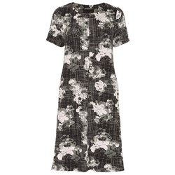 Bonmarche Floral Textured Swing Dress 39in