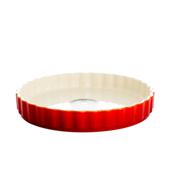 Oven to Tableware Fluted Flan Dish Chilli No Colour