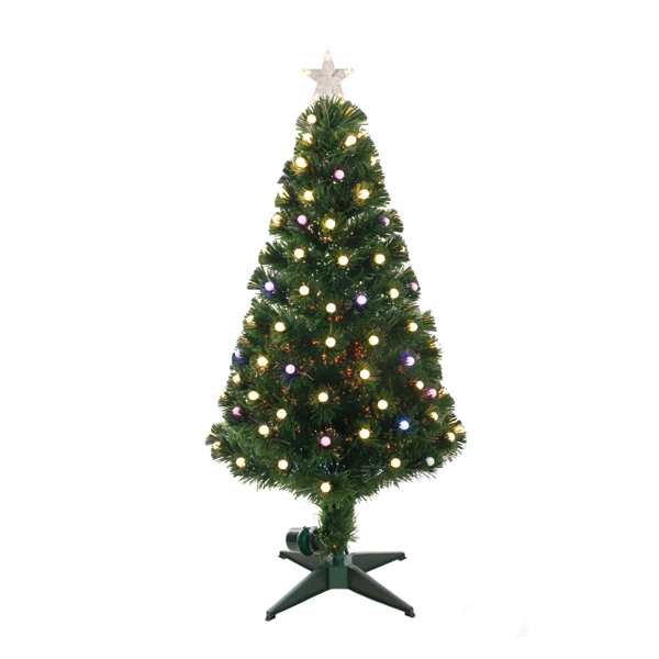 150cm Slow Colour Changing Fibre Optic Tree No Colour