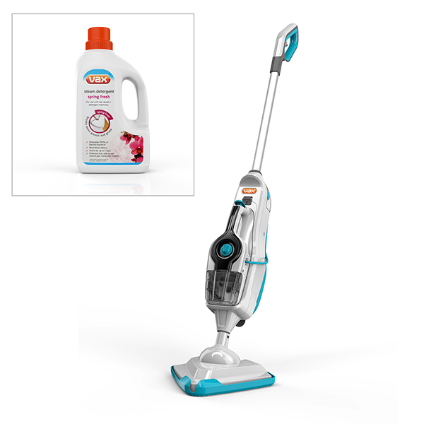 Vax Steam Fresh Combi Classic S86SFCC Steam Cleaner with 1L Spring Fresh Detergent 384359