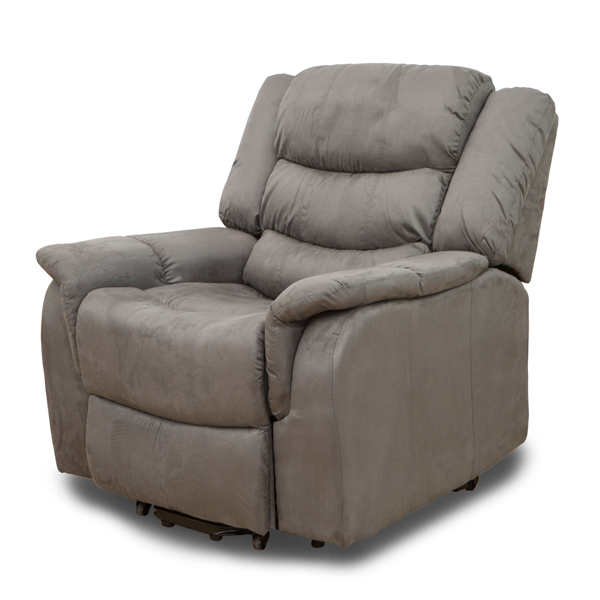 Ravenna Fabric Rise and Recliner with Heat and Massage Charcoal