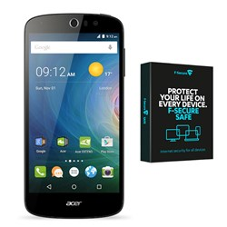 Acer Z530 5 inch 4G Android Smartphone with HD Display, 8GB Storage, Dual SIM, Dual 8MP Cameras and 2 Year Warranty plus Security Software for 3 Devices