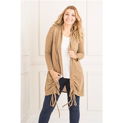 Nicole Ruched Side Cardigan