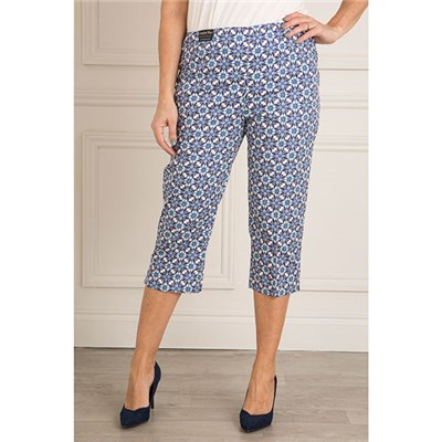Emelia Printed Cotton Sateen Crop Trouser 20 Inch