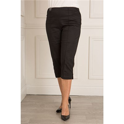 Emelia Plain Cotton Sateen Crop Trouser 20 Inch