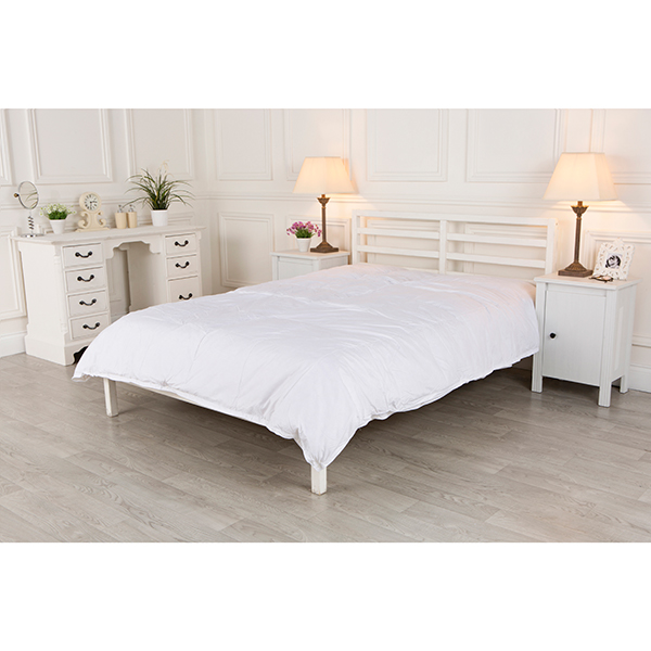 Scott Feather Hotel Quality Single White All Seasons 15 Tog Goose Feather and Down Quilt No Colour