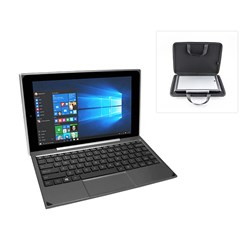 Venturer BravoWin 10K 10.1 Inch 2-in-1 Windows 10 Mini Notebook with Smart Keyboard, Intel Atom 1.3 GHz, 2GB RAM, 32 GB SSD Storage with Notebook Case