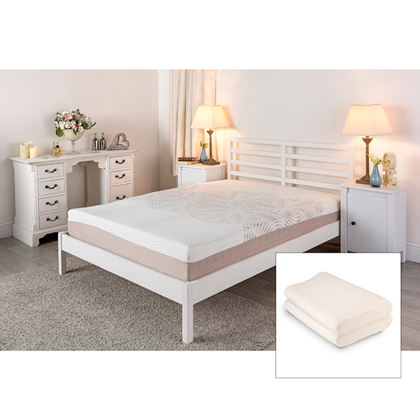 Sleep Genie ADAM Double Mattress and Two Free Contour Pillows No Colour