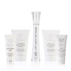 Crystal Clear Lift Away Wand and Serum, Anti-age Serum 30ml, Deep Cleanse Gel 25ml and Brightening Complex 25ml