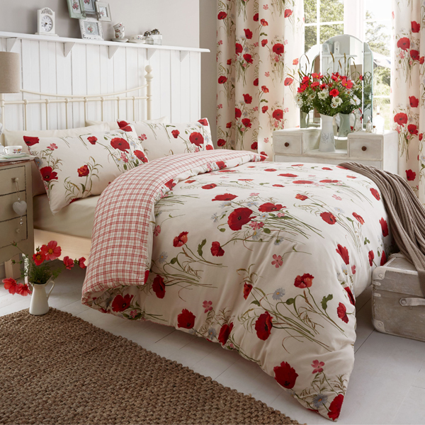 Wild Poppies Quilt Set King Size No Colour