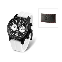 Vostok Europe Gents Expedition N1 Chronograph on a Silicone Strap with Free Money Clip