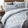Nordic Trees Quilt Set King Size Grey