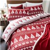 Nordic Trees Quilt Set King Size Red