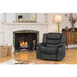 The Furniture Collection - Lincoln Bonded Leather Manual Recliner Armchair