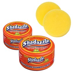 Two Shadazzle Natural Cleaner and Polish with Two FREE Extra Applicators for Shadazzle