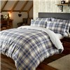 Tartan Brushed Fitted Sheet Set Double Size Navy