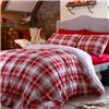 Tartan Brushed Fitted Sheet Set Double Size Red