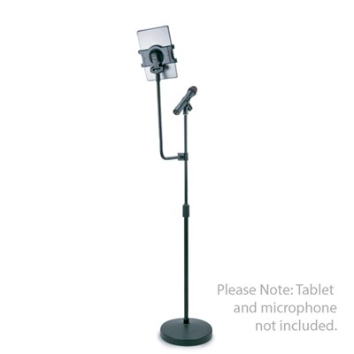 Universal Tablet Floor Stand and Microphone Holder